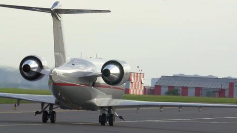 Plane on landing strip Footage