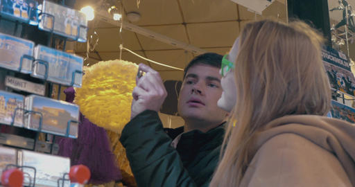 Two Tourists in Souvenir Shop Footage