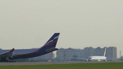 Aeroflot passenger plane taking off Footage