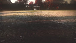 4K Abandoned Beach Football Handball Field in a Cold Autumn Day 3 stylized Footage
