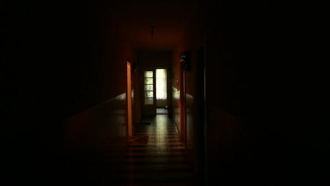 4K Scary Corridor in Old Building Original Unstabilized Shot 2 Footage