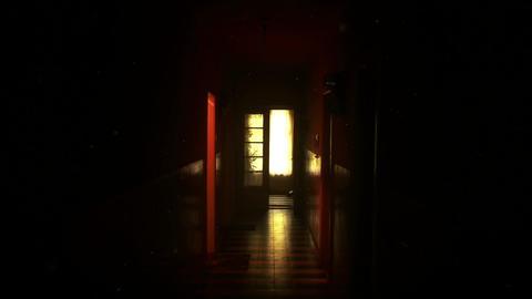 4K Scary Lunatic Sanitarium Corridor v2 3 ghost flicker Footage