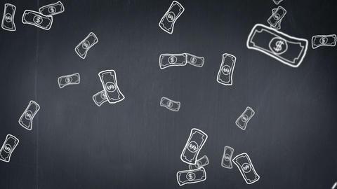 Raining Money stock footage