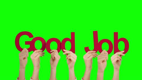 Hands holding up good job Animation