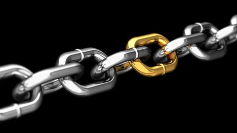 Link In A Chain stock footage