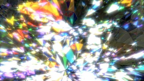 Sparkling diamond loop Animation