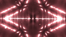 Red Abstract Background Fractal. VJ Loops Animation