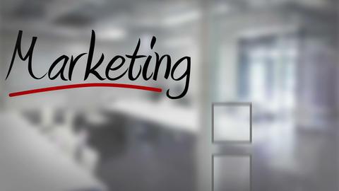 Businessman ticking marketing checklist Animation