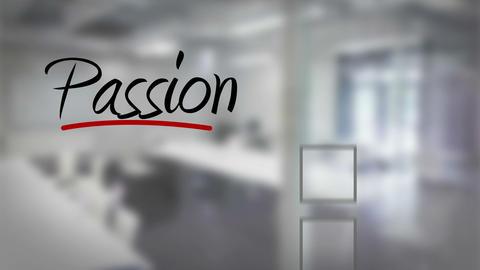Businessman ticking passion checklist Animation