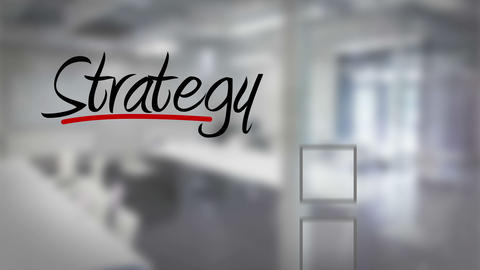 Businessman ticking strategy checklist Animation