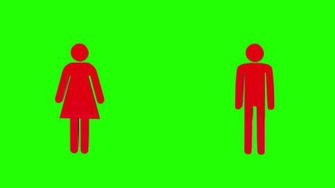 3d man and woman rotating Animation