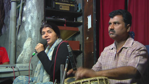 BANGALORE, INDIA – SEP 20, 2011: Musical Performance Live Action