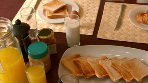 Breakfast close up Footage