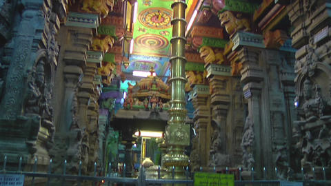 Interior of Meenakshi Temple in Madurai, India Footage