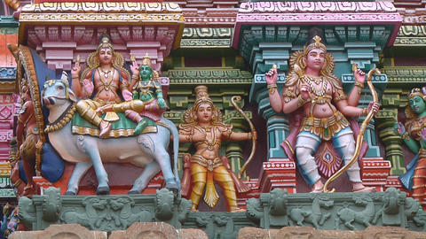 Meenakshi Temple in Mudarai, India Footage