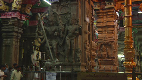 MUDARAI, INDIA – SEP 23, 2011: Sri Meenakshi Amman Temple Footage