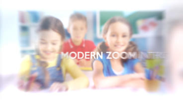 Modern Zoom Intro - Apple Motion Template stock footage