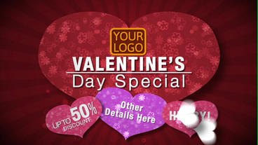 Valentines Day Sale After Effects Template