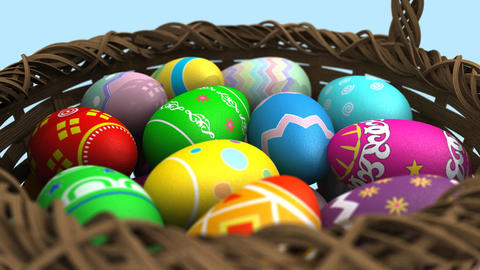 Basket of Easter Eggs CG動画素材