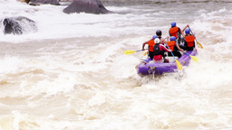 White Water River Rafting On Pastaza River Footage