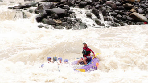 whitewater river rafting on pastaza river Footage
