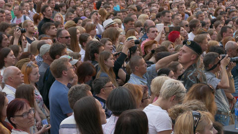 Ungraded: Crowd at Concert Footage