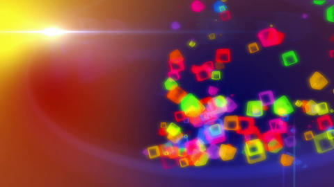 colored cubes in colored background Animation