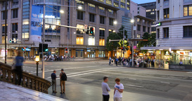 Sydney Australia Queen Victoria Building And Town Hall Street Scene stock footage