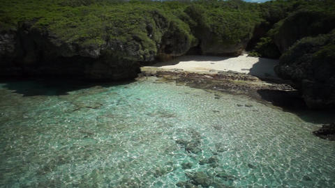 Aerial Shot : Tropical Island, Beach, Saipan 影片素材