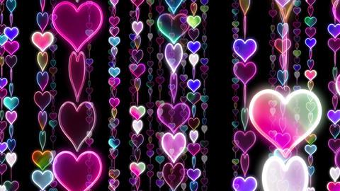Chain line Heart 1 Rf Hb 4 K CG動画素材