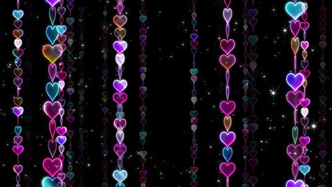 Chain line Heart 1 Rm Hs 4 K CG動画素材