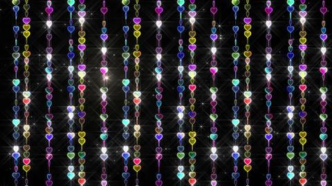 Chain line Heart 1 Wf Hs 4 K CG動画素材