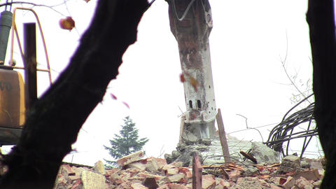Heavy machinery that struck the concrete 06a Footage