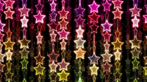 Chain line Star 1 Wy Sb 4 K CG動画素材