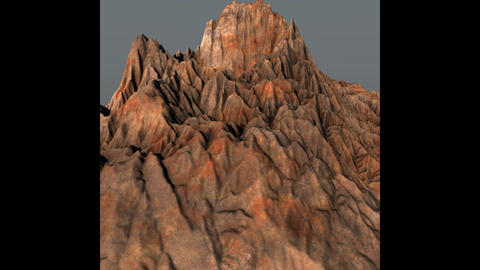 Prehistoric Volcano High Poly 3D Model 3Dモデル