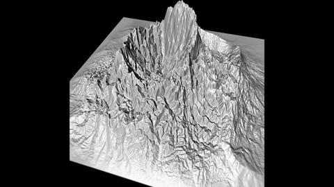 Prehistoric Volcano High Poly 3D Model 3D Model