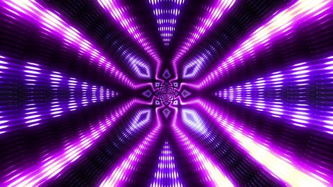 VJ Flashing Lights Wall - Colorful Stage Purple Animation