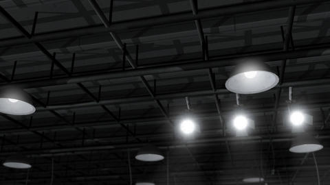 Sound Stage Lighting stock footage