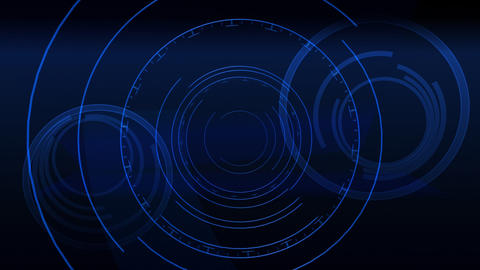 Abstract Blue Spinners Animation
