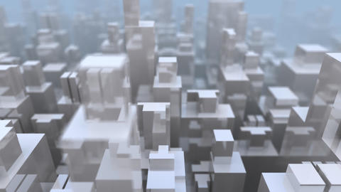 Abstract Glass City Animation