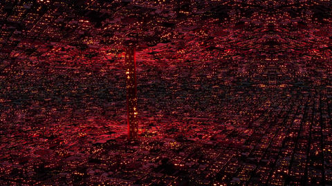 4 K Abstract Surreal Futuristic Utopia Metropolis 1 Animation