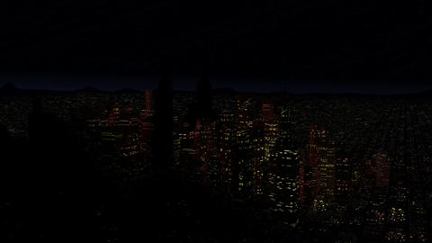 4 K Modern City Power Outage Energy Blackout at Night v 2 1 Animation