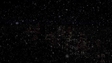 4 K Modern City Power Outage Energy Blackout at Night v 2 11 snowfall Animation