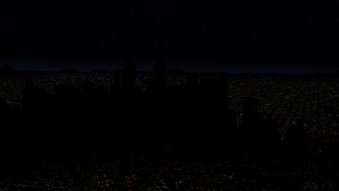 4 K Modern City Power Outage Energy Blackout at Night v 2 3 Animation