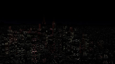 4 K Modern City Power Outage Energy Blackout at Night v 2 4 Stock Video Footage