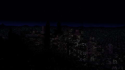 4 K Modern City Power Outage Energy Blackout at Night v 2 5 Animation