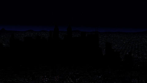 4 K Modern City Power Outage Energy Blackout at Night v 2 6 Animation