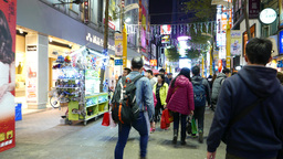 Ximen district overcrowded nightlife, luxury downtown lifestyle Footage