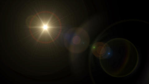 Sun cross lens flare 4k Animation
