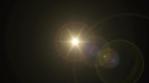 Sun cross lens flare center 4k Animation